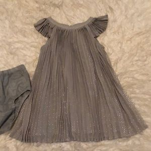 Adorable grey shiny dotted Baby gap dress